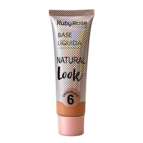 Imagem de Base Líquida Natural Look Chocolate Ruby Rose