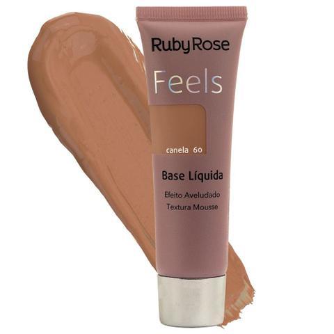 Imagem de Base liquida ruby rose feels cor canela 60