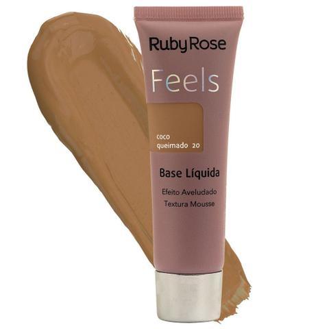 Imagem de Base liquida ruby rose feels cor coco queimado 20