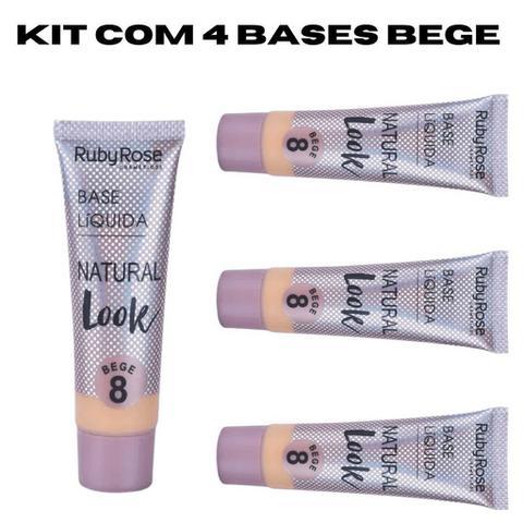 Imagem de Base líquida Ruby Rose Natural Look Bege 2 ao 8 29ml HB - 8051