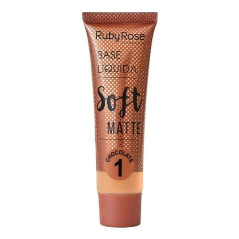 Imagem de Base Líquida Ruby Rose Soft Matte Chocolate