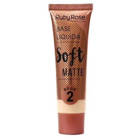 Imagem de Base líquida soft matte bege 2 - ruby rose