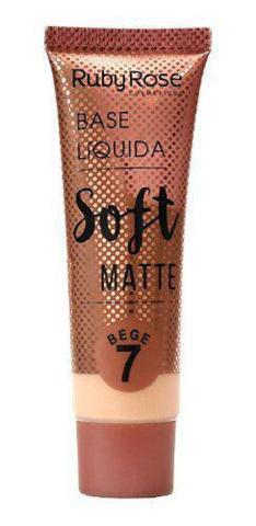 Imagem de Base liquida soft matte  ruby rose  bege 7