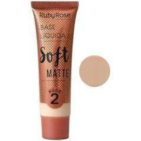 Imagem de Base liquida soft matte ruby rose  chocolate 2  - hb 8050