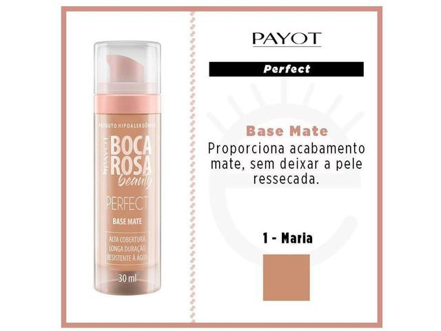 Imagem de Base Mate Perfect Payot Boca Rosa Beauty