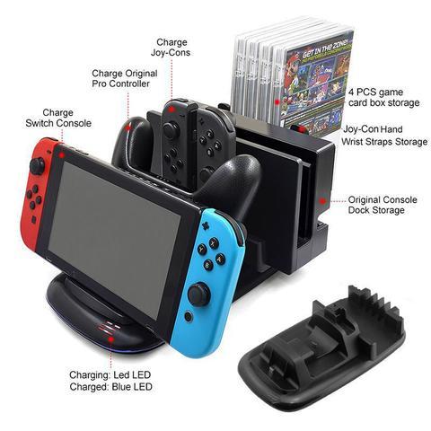 Imagem de Base Multifuncional Carregador Nintendo Switch Dock Station