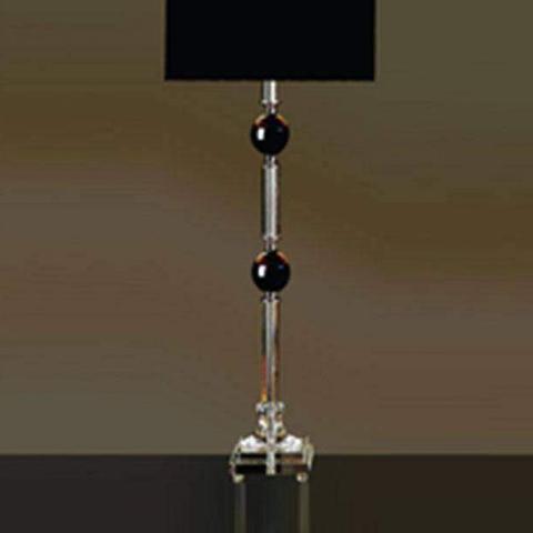 Imagem de Base para Abajur em Vidro Classic  Bella Iluminação Preto/Prata