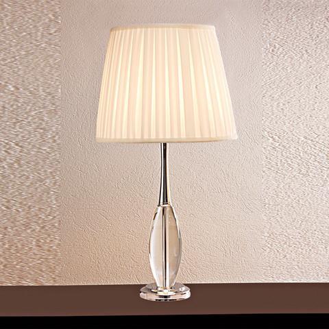 Imagem de Base para Abajur em Vidro Classic  Bella Iluminação Transparente/Cromado