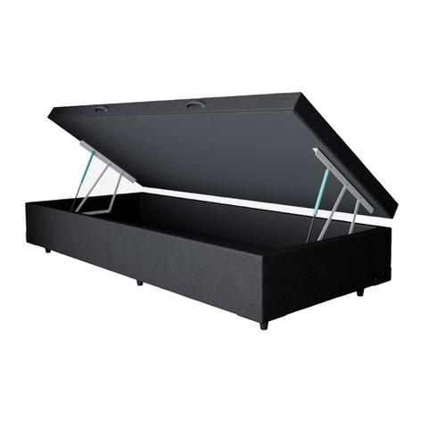 Imagem de Base para Cama Box Solteiro Premium com Baú (45x88x188) Preta
