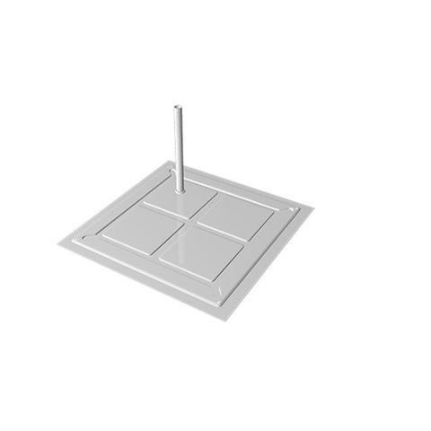 Imagem de Base POP Para Manequim 1 Pino Branco 0,30 x 0,30m - Cód.  8617