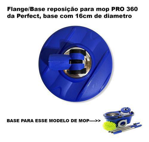 Imagem de Base Suporte Cabo Balde Mop 360 Giratório Perfect Pro 16cm