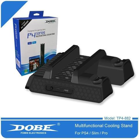Imagem de Base Vertical Com Cooler Para PlayStation 4 PS4 Slim Pro - Dobe