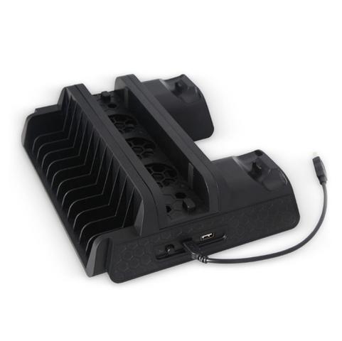 Imagem de Base Vertical Para PlayStation 4 Universal PS4 - Slim - Pro C/ Cooler - Dock Controles - Stand Jogos