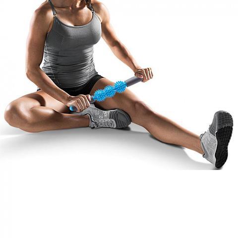 Imagem de Bastao para Massagem com 3 Bolinhas de Cravo Embutidas Azul Liveup