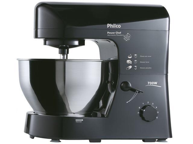 Imagem de Batedeira Planetária Philco Preta 700W Power Chef