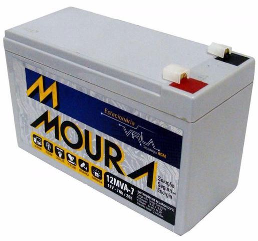 Imagem de Bateria 12v 7a Moura Estacionária Vrla Nobreak Alarme Cerca