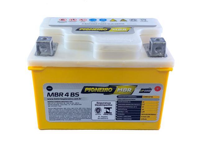 Imagem de Bateria 4ah Honda Biz C100 + Até 2001 Pioneiro Mbr4bs