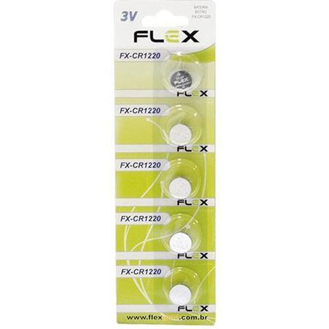 Imagem de Bateria Botão Cr1220 Flex de Lítio 3 volts com 5 Unidades Original no Blister