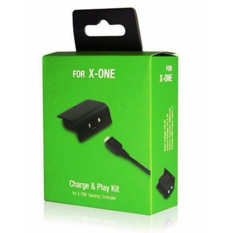 Imagem de Bateria E Cabo Carregador Controle Xbox One Charge Play Kit
