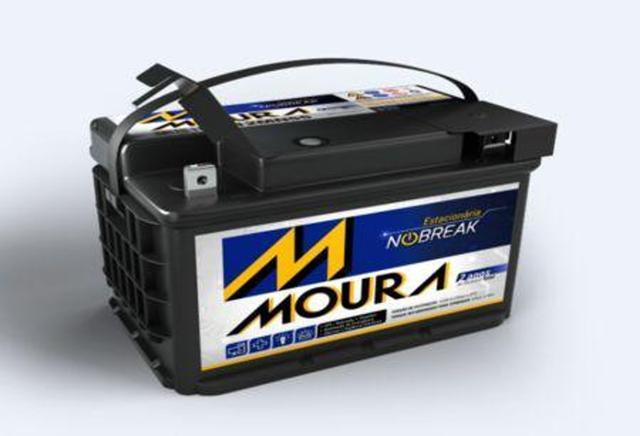 Imagem de Bateria Estacionária 12MN55 - 55Ah - Nobreak, Alarme, Som. - Moura