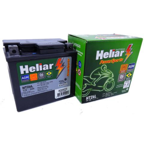 Imagem de Bateria Heliar Htz6l 5ah Yamaha Ybr 125 Factor E Ed K K1 2010 Original (Envio Imediato)