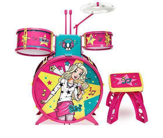 Imagem de Bateria Infantil Barbie Glamourosa - Fun