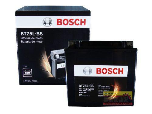 Imagem de Bateria Moto Bosch Btz5l-bs 5ah 12v Honda Xre 300 Cg Titan