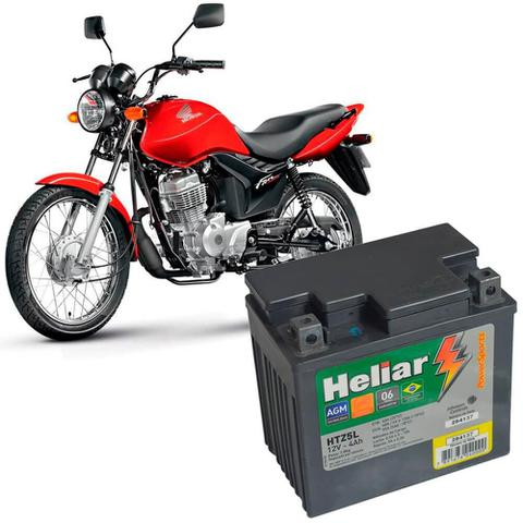 Imagem de Bateria Moto Cg 125 Heliar HTZ5L PowerSports Selada 4Ah 12V