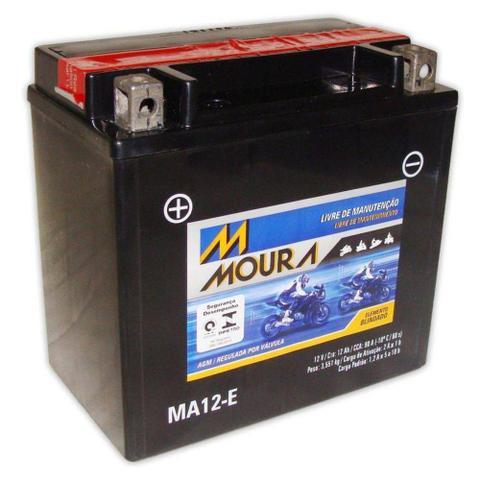 Imagem de Bateria Moto Ma12-e Moura 12ah Victory Tiger 800 Yamaha FJ1200 FZR1000 GTS1000 Phazer