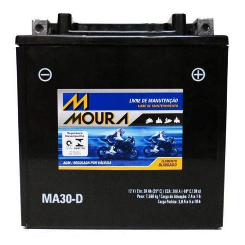 Imagem de Bateria Moto Ma30-d Moura 30ah Arctic Cat HDX Prowler 550 700 1000 Wildcat Sport