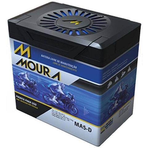 Imagem de Bateria Moto MA5-D Moura 5ah Honda NXR Bros ES ESD EZ 90 CUB NH 80 Aero NPS 50 S Ruckus