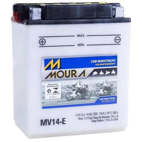 Imagem de Bateria Moto Mv14-e Moura 14ah LT300E 300E LT-4WD LT-F250 LT-F250F Quadrunner Sportsman