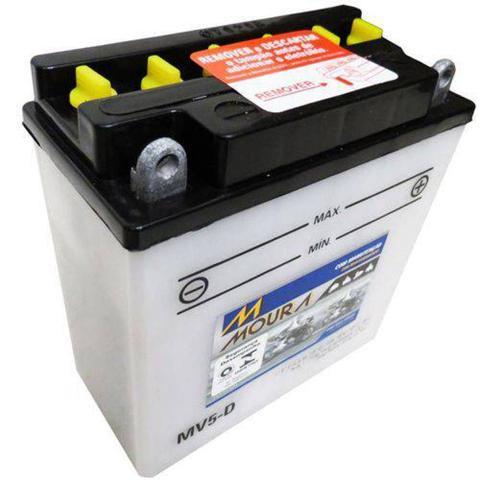 Imagem de Bateria Moto Mv5-d Moura 5ah Suzuki Model T20 Scrambler TC305 TC250 SP600 T350 Series
