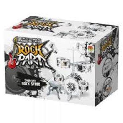 Imagem de Bateria musical infantil rocky party 12 peças completa com pedal e banqueta