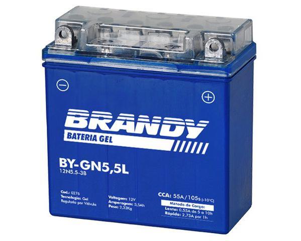 Imagem de Bateria Nano Gel BY-GN5.5L Yamaha Ybr 125 Ate 2008 Brandy 0276