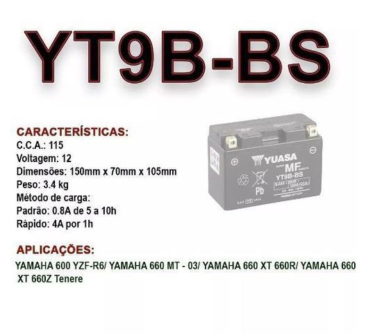 Imagem de Bateria Original Yuasa YT9B-BS YAMAHA XT 660R