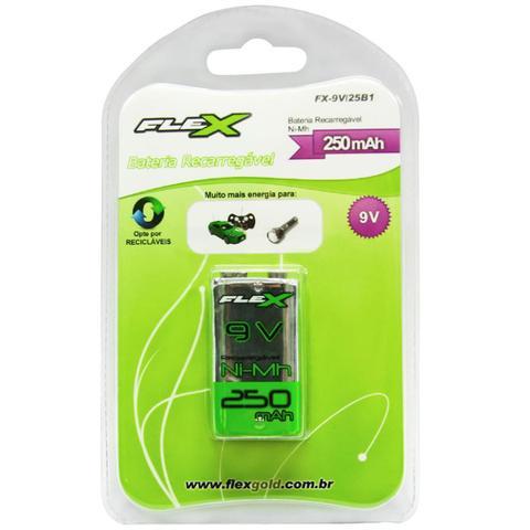 Imagem de Bateria Recarregável Flex FX9V25B1 9V 250mah 6f22 Nimh