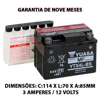Imagem de Bateria Selada Yuasa Original HONDA 125 CG Titan KS Ytx4l  Cód: Yuasa ytx4l-bs