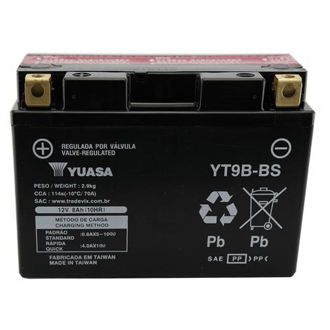 Imagem de Bateria Yuasa YT9B-BS, YZF-R6, XT660X R Z Tenere, MT-03, YFM700 Raptor, Duke 690