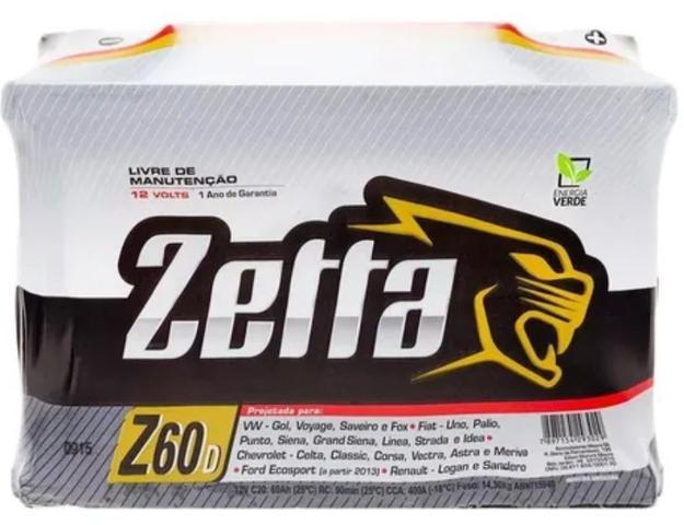 Imagem de Bateria zetta (moura) z60d 60ah