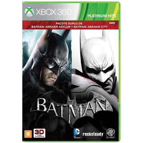 Jogo Batman Arkham Asylum e Arkham City - Xbox 360 - Warner Bros Interactive Entertainment