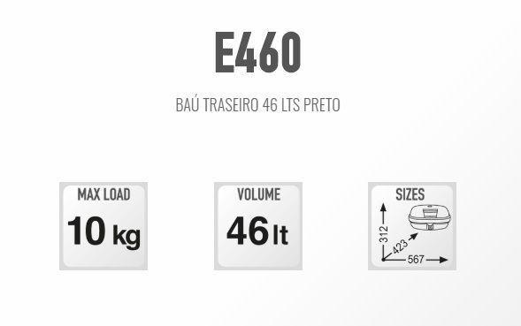 Imagem de Bau Bauleto Traseiro Monokey Givi E460n 46lts 2 Capacetes