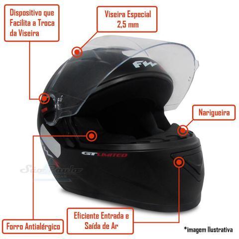 Imagem de Baú Givi Moto 45l Lente Fumê + Capacete Prata C/ Vermelho