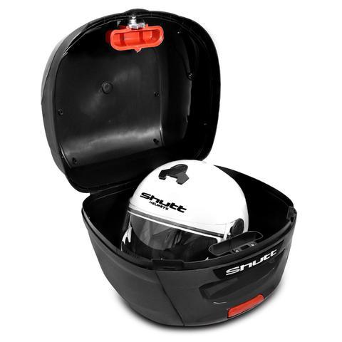 Imagem de Baú Moto Bauleto 41 Litros Shutt Universal Preto Bagageiro Com Chave Base de Fixação e Refletores 40