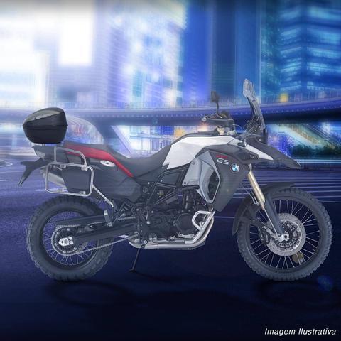 Imagem de Baú Moto Bauleto 47 Litros Givi E470NT Bagageiro Universal Com Chave Preto Para 2 Capacetes