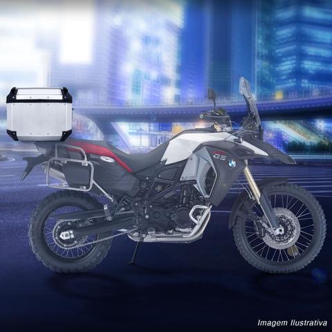 Imagem de Baú Moto Bauleto 58 Litros Givi OBK58A Outback Bagageiro Universal Chave Alumínio Para 2 Capacetes