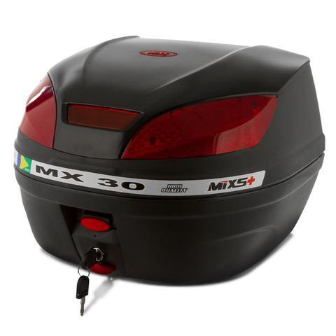 Imagem de Bau Moto Bauleto Mixs 30 Litros Moto Bagageiro MX30 Pro Tork Universal Com Chave