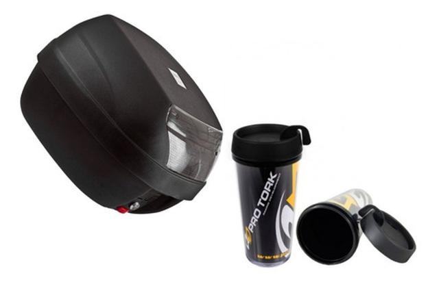 Imagem de Baú Para Moto 28 Litros Fumê Pro Tork Para 1 Capacete