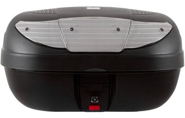 Imagem de Baú Para Moto 45 Litros Cristal Pro Tork Para 2 Capacetes