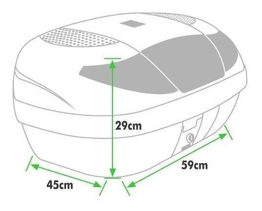 Imagem de Bau Para Moto Bauleto 45 Litros Para 2 Capacetes